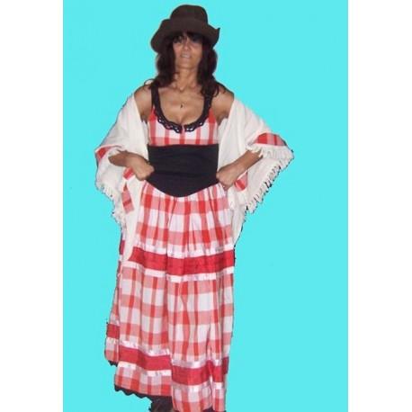 westernové šaty