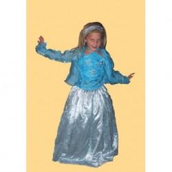 modré  dětské  společenské šaty