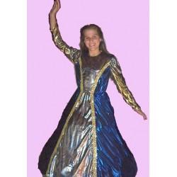 princezna  modro zlatá