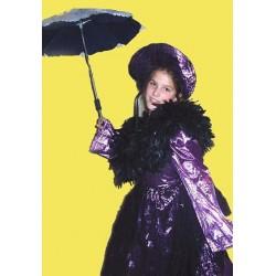 šaty fialovo černé