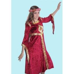středověké šaty červené