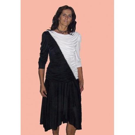 černé  bílé  společenské šaty