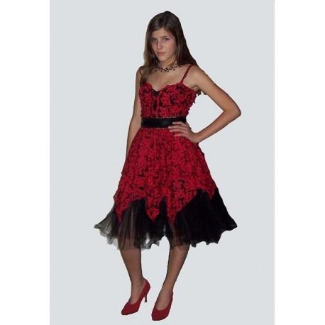 červeno ,černé  společenské   šaty