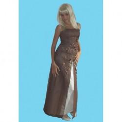 hnědé  společenské šaty