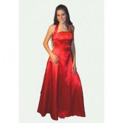 červené  společenské šaty