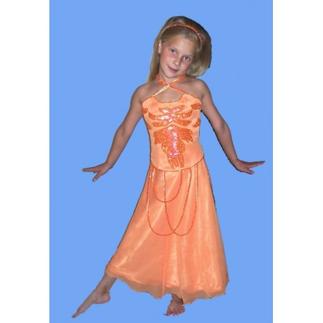 oranžové dětské společenské šaty