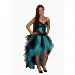 černé , tyrkysové  společenské šaty