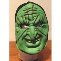 zelená plstěná maska