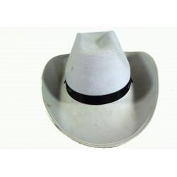 bílý kovbojský klobouk