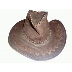 hnědý kovbojský klobouk