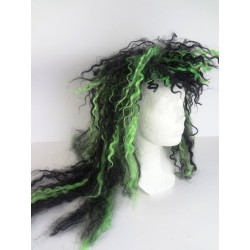 Paruka - černo / zelená