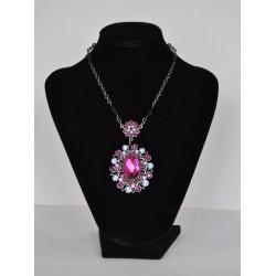 náhrdelník plesový růžový