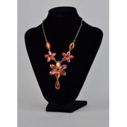 náhrdelník plesový - oranžový