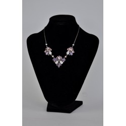 náhrdelník plesový - fialový