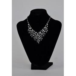 náhrdelník plesový -  černý