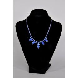 náhrdelník plesový - modrý