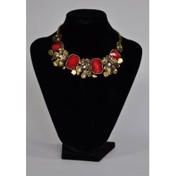 náhrdelník  -  červeno zlatý