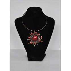 náhrdelník  -  červeno