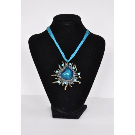 náhrdelník  -  modrý