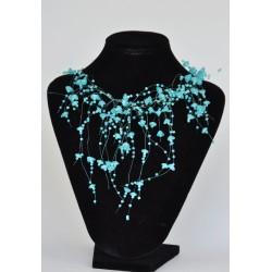 náhrdelník  korálkový - tyrkys