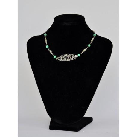 náhrdelník - zelený