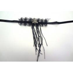 náhrdelník z kůže a korálků