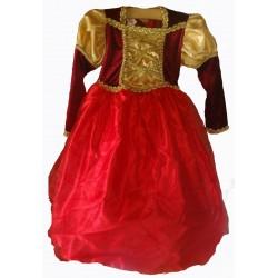 šaty červeno zlaté