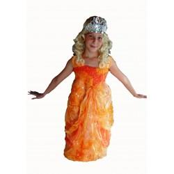 oranžové středověké šaty