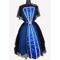 dobové černo modré šaty