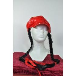 červená čepice  s copy