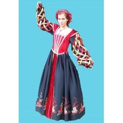 šaty renezanční