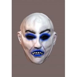 bílá gumová  maska