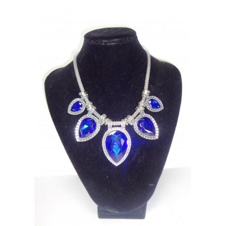 náhrdelník stříbrný s  modrým kamenem