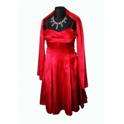 ples šaty červené