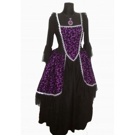 dobová dáma - fialové šaty