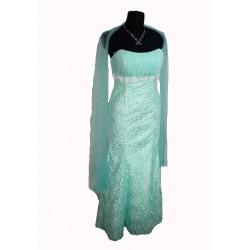 plesové šaty - tyrkysové