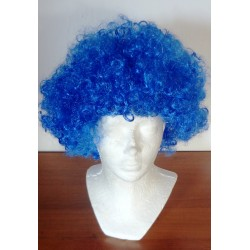 paruka modrá kudrnatá