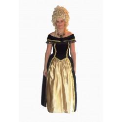 šaty dobové zlato černé