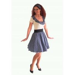 retro puntíkaté šaty 60tá léta