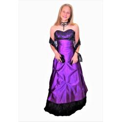 plesové šaty  fialové  vel.38