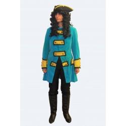 dobový pán - modro žlutá uniforma