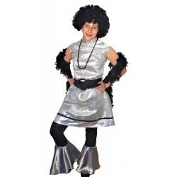 retro šaty stříbrno černé