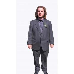 pánský společenský oblek s proužkem