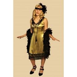 dáma první republiky žluté šaty