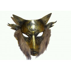 tvrdá polomaska zlaté lišky
