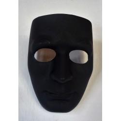 tvrdá černá maska lidského obličeje