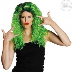 paruka zeleno černá dlouhá  kudrnatá