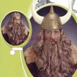 paruka blond kudrnatá - viking